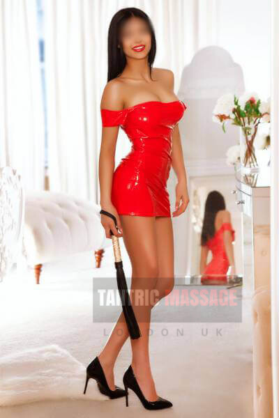 Anita in Red Sexy Dress Oxford street tantric massage