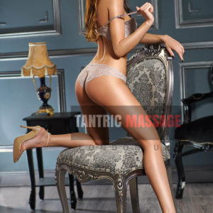 Erika Bayswater Back View on Chair tantric massage West London