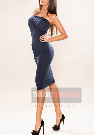 Karina Black dress happy ending massage london